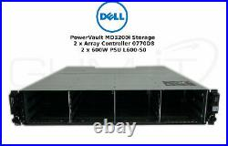 DELL PowerVault MD3200i Storage 2 x Array Controller 0770D8 2 x 600W PSU L600-S0