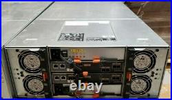 Dell MD3460 PowerVault Storage Array Chassis with 2x 12G SAS 4 Controllers, 2x PSU
