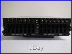 Dell PowerVault 220S 14-Bay Network Storage Array with 14x 36-146GB 10K/ 15K HDDs