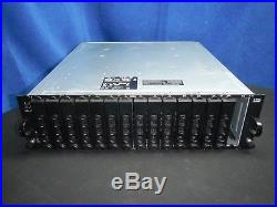 Dell PowerVault MD1000 15 Bay SAS Array Storage System 2 x AMP01 Controllers