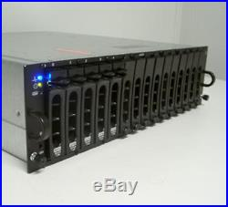 Dell PowerVault MD1000 15x 2TB SAS 30TB STORAGE RAILS DUAL P/S EMM CONTROLLER
