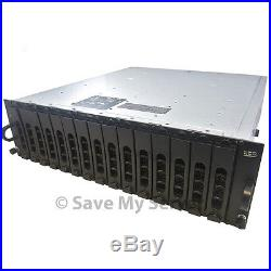 Dell PowerVault MD1000 DAS Storage Unit 15x300GB 2x SAS Controllers 2PS