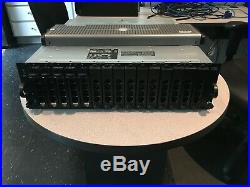 Dell PowerVault MD1000 Storage Array Dual Controllers Power Supplies, 5x 146GB