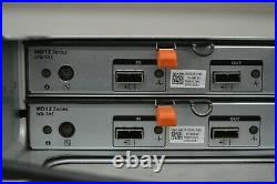 Dell PowerVault MD1200 12-Bay Storage Array 2x MD12 SAS Controller NO HDD/BEZEL