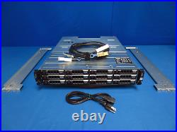Dell PowerVault MD1200 Storage Array 12x 4TB HDDs Dual Controllers withrack rails