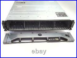Dell PowerVault MD1220 SAS Storage Array 24x2.5 Bay 2x MD32 Controllers+