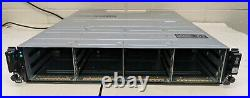 Dell PowerVault MD1400 Storage Array with 2x 12G-SAS-4, 2x 600W PS, No HDD P1. C