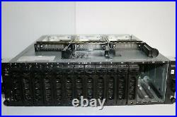 Dell PowerVault MD AMP01 15-Bay Storage Array with Power Supplies NO HARD DRIVES